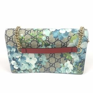 Gucci #546368 Blooms GG Supreme Chain Shoulder Bag